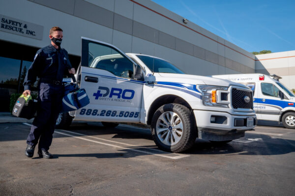 Pro Safety First Responder entering their vehicle